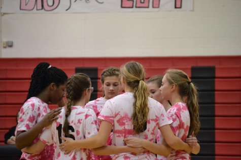 Girls Volleyball Wins Dig Pink Game and Raises Cancer Awareness