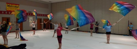 Color Guard Goes to First Competition