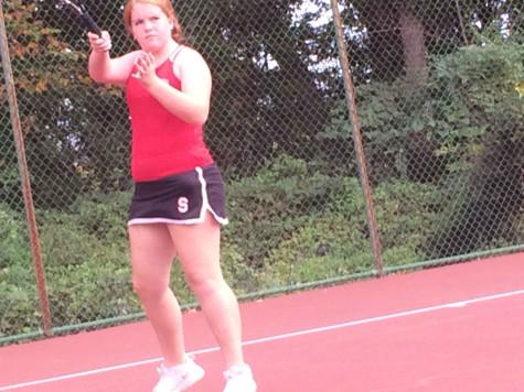Sophomore Molly Hogan in action.