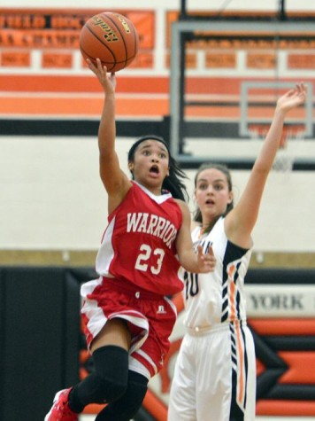Freshman Jayla Galbreath drives in for the lay-up. Photo by; John A. Pavoncello - The York Dispatch