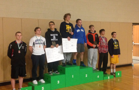 Sophomore Joey Romjue placed 7th at Donegal's wrestling tournament December 19th. Photo By: Brad Keeney