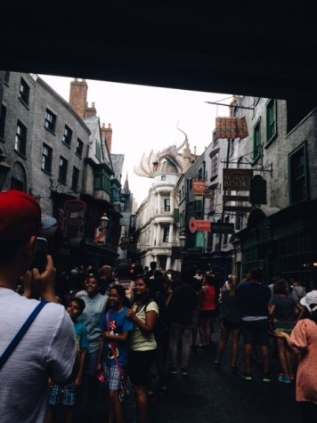 The entrance into Diagon Alley is just as magical as expected.