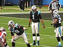 NFL MVP Cam Newton calling a play. By Anthonysc1988 (Own work) [CC BY-SA 3.0 (http://creativecommons.org/licenses/by-sa/3.0)], via Wikimedia Commons