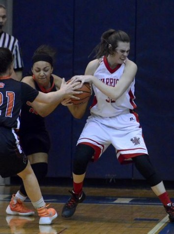 Ashley Stone fighting for the ball. Photo By; York Dispatch