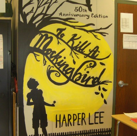 English Teacher Sara Cieslewicz has a mural painted on the wall of the classic novel. Photo by: Ariel Barbera