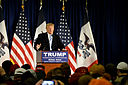 Donald Trump speaking to a crowd. By Alex Hanson from Ames, Iowa (Trump at ISU - 1/19/2016) [CC BY 2.0 (http://creativecommons.org/licenses/by/2.0)], via Wikimedia Commons