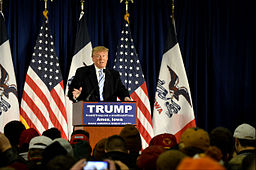 Donald Trump talking at his own event at his house. By Alex Hanson from Ames, Iowa (Trump at ISU - 1/19/2016) [CC BY 2.0 (http://creativecommons.org/licenses/by/2.0)], via Wikimedia Commons