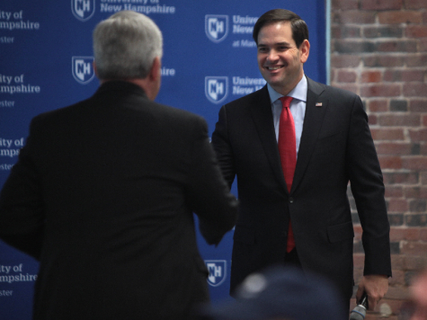 Senator Rubio greets a supporter at one of his rallies. Photo by Gage Skidmore from Peoria, AZ, United States of America - Marco Rubio with supporter, CC BY-SA 2.0.
