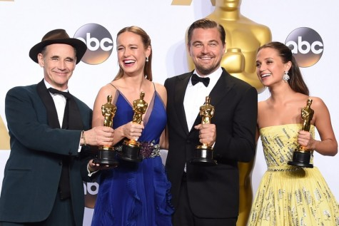 The top actors of the night pose with their awards. Photo by Jason Merritt/Getty.