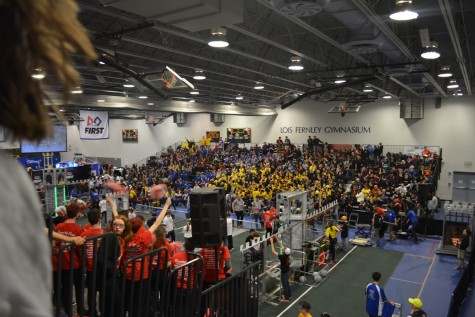 The stands were filled to capacity at Saturday's event. Photo courtesy TechFire 225.