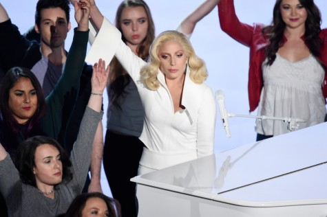 Lady Gaga delivers a powerful performance. Photo by Kevin Winter/Getty.