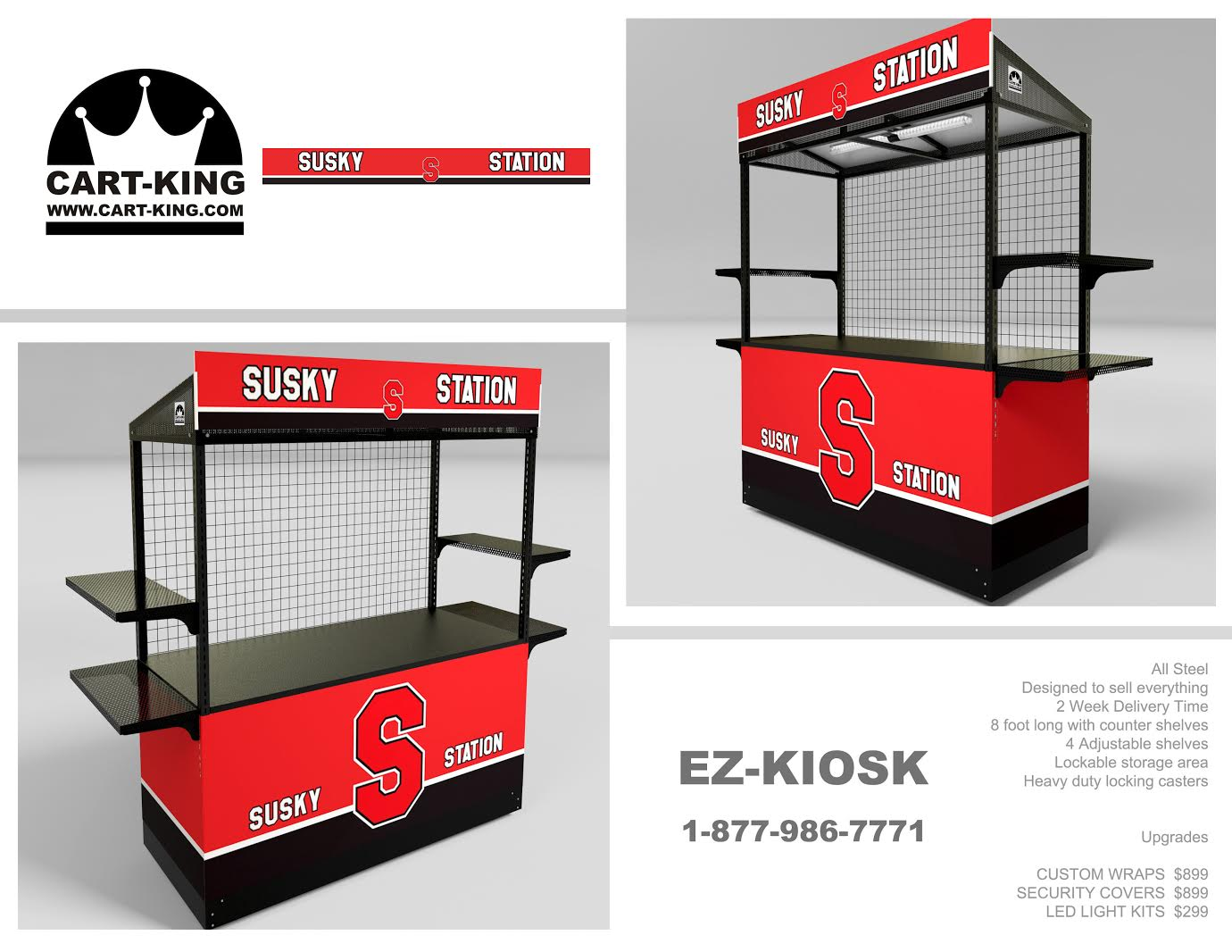 This is a rough draft for what the Susky Station's kiosk will look like.