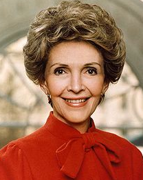 This is a photo of Nancy Reagan in her earlier years. Photo courtesy of Getty Images.