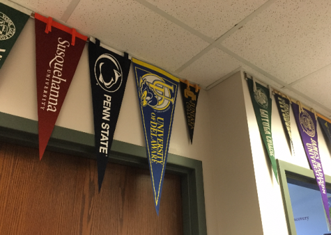 Multiple colleges in the area came to display their school to the students of Susquehannock High School. Photo by Ally Kerr.