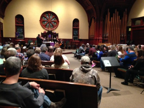 The concert had a great turnout as audience members packed into the church. Photo By Grace Burns