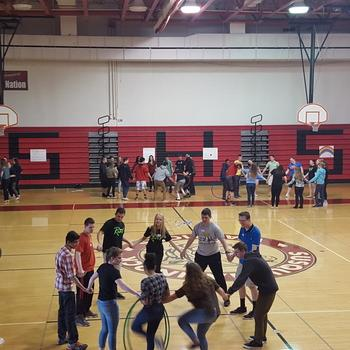 """Family groups took part in many different forms of team bonding before """"getting real""""."""