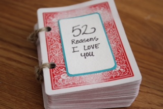A deck of cards is a great way to create a meaningful gift. Screenshot from Pinterest.