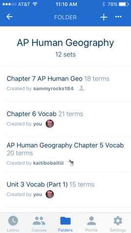An app such as Quizlet is a great way to study.