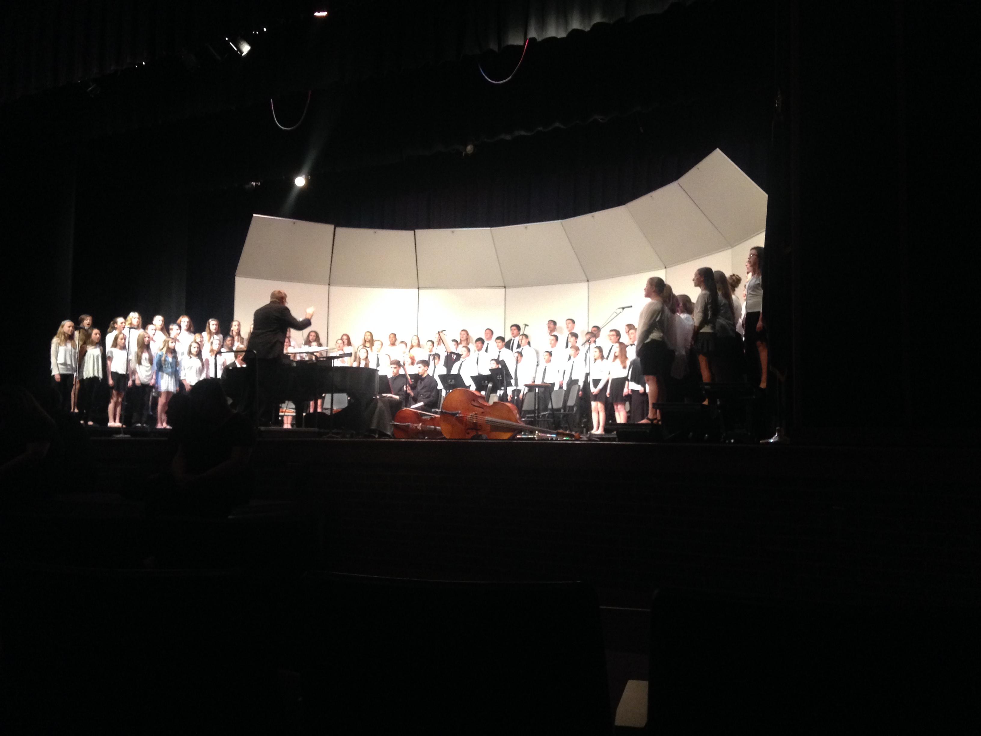 The choir concert took place in Susquehannock High School's auditorium.