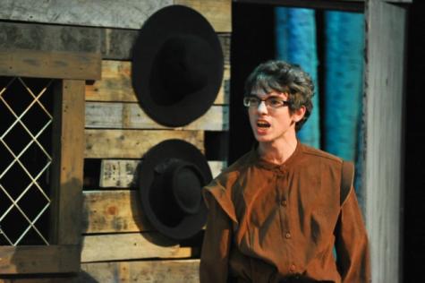 Senior Ryan Addotta scowls as he portrays Marshall Herrick in Susky's The Crucible.