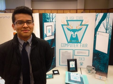 SHS Students Compete in State Computer Fair; David Gallegos Places Second