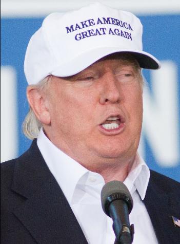 Trump branding his famous slogan. Photo by: Max Goldberg