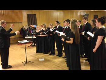 Chanticleer practices for last year's concert