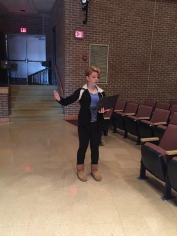 "Freshman Jordan Pflieger said, ""It's a fun experience to listen to her poems."""