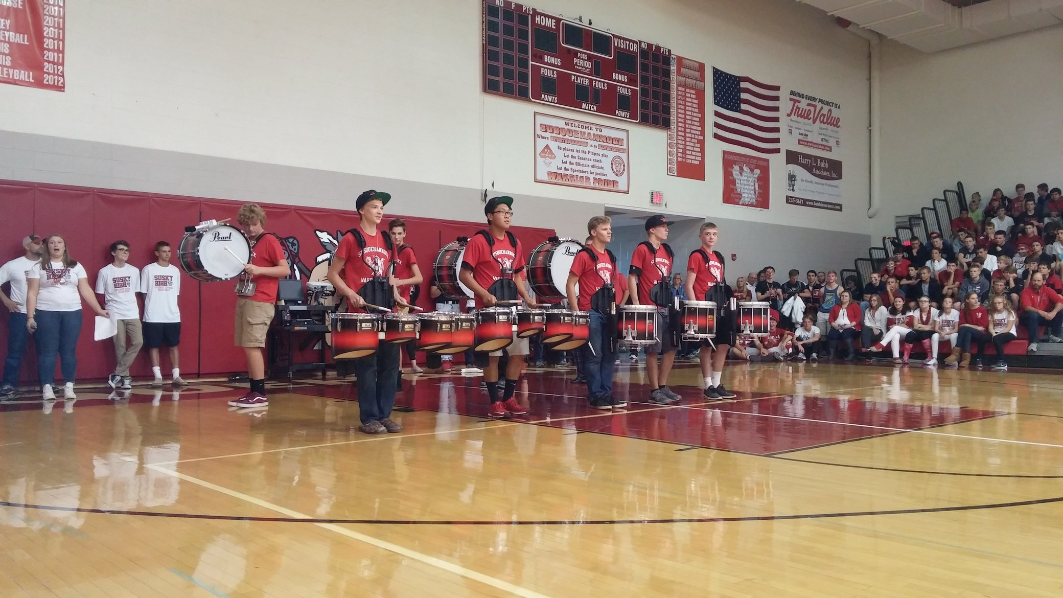The Susquehannock drum line. Photo by: Ariel Barbera