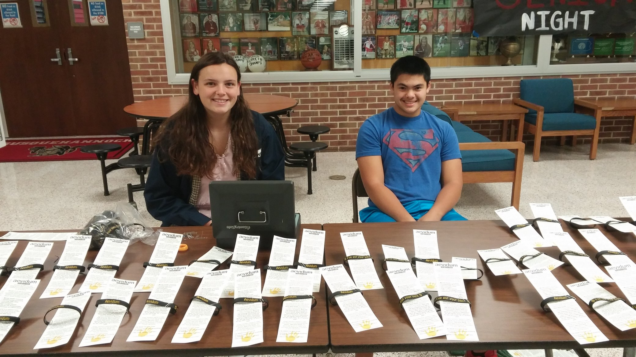 Bracelets are sold in the main lobby. Photo by: Ariel Barbera