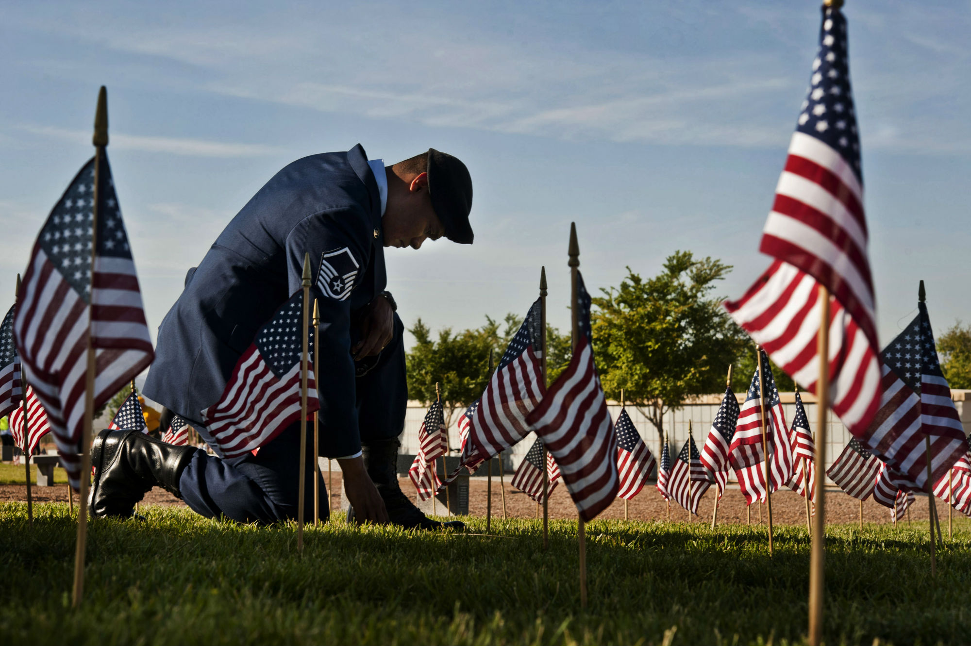 People across the country took this day to honor veterans and active military members.