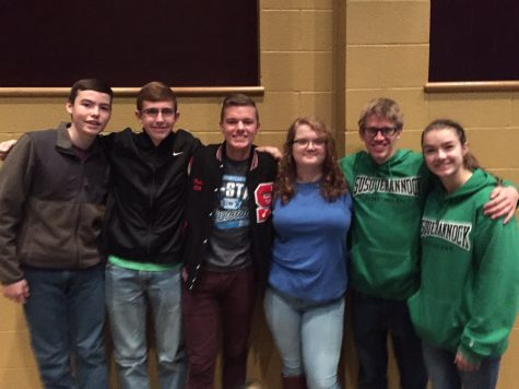 Sophomore Jordan Futrell, junior Justin Feild, junior Brendan Paules, senior Lina Waterstradt, senior Julien Sherman and junior Michaela Bryan were among many students from around district 7 who auditioned for districts this year.