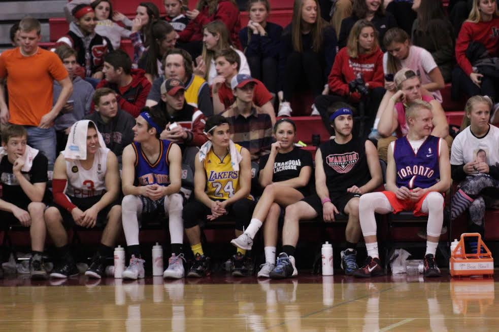 The student team watches on. Photo from Brady Mock