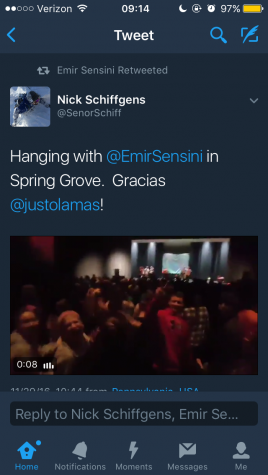 Señor Schiffgens had a blast at the concert. Emir also retweeted Schiffgen's tweet, constantly engaging with his fans. Screenshot of @SenorSchiff's twitter.