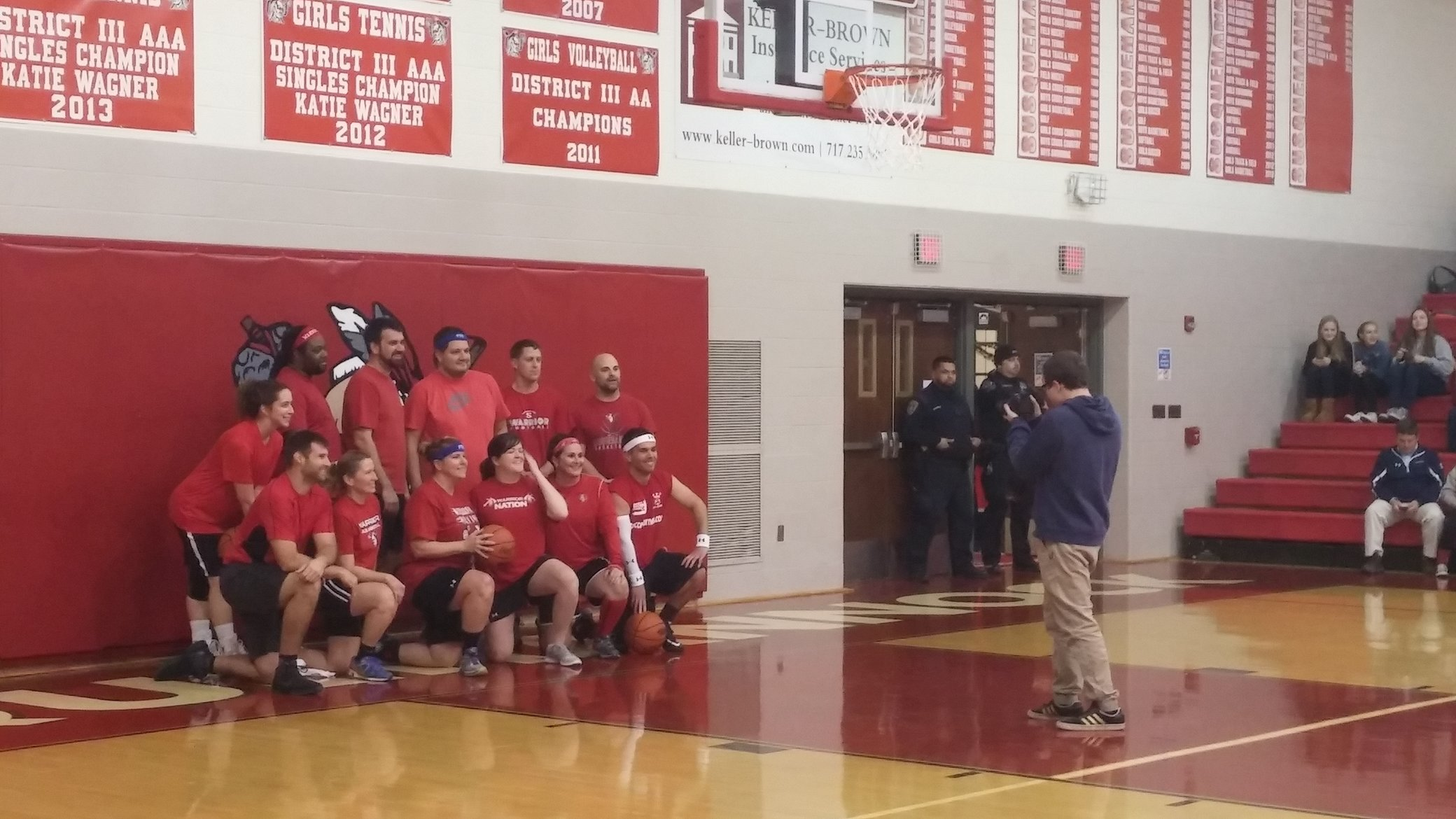 Teachers take the win in Friday night's basketball game. Photo by: Ariel Barbera