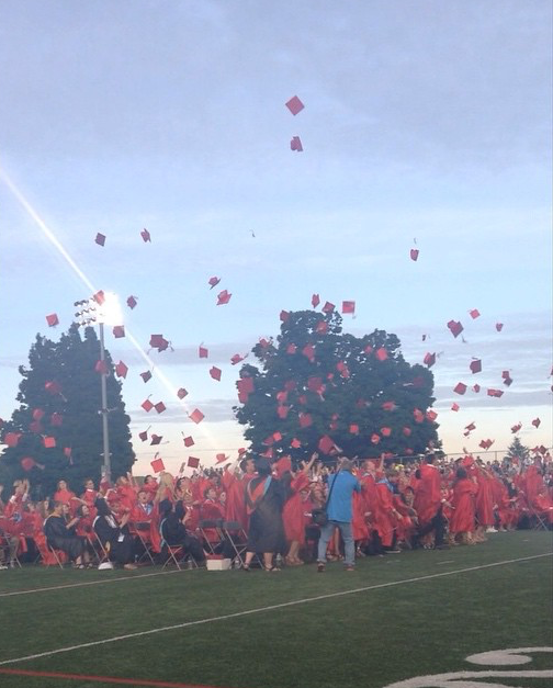 The+class+of+2017+is+looking+forward+to+throwing+their+caps+in+the+air+on+graduation+day.