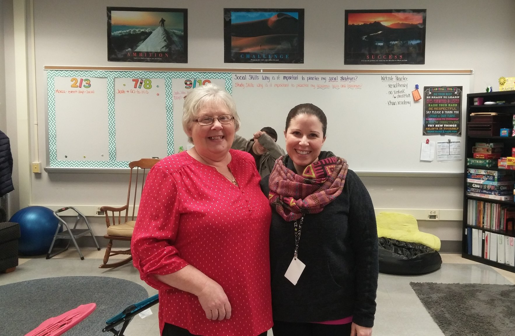 Deborah Bosley spends her last day at Susquehannock with her daughter, Christine Bosley. Photo by: Ariel Barbera