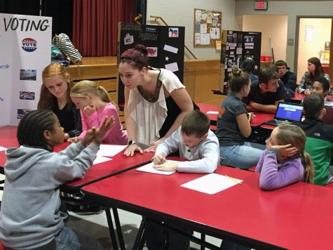 SHS Seniors Teach Election Lessons to Middle School and Elementary Students