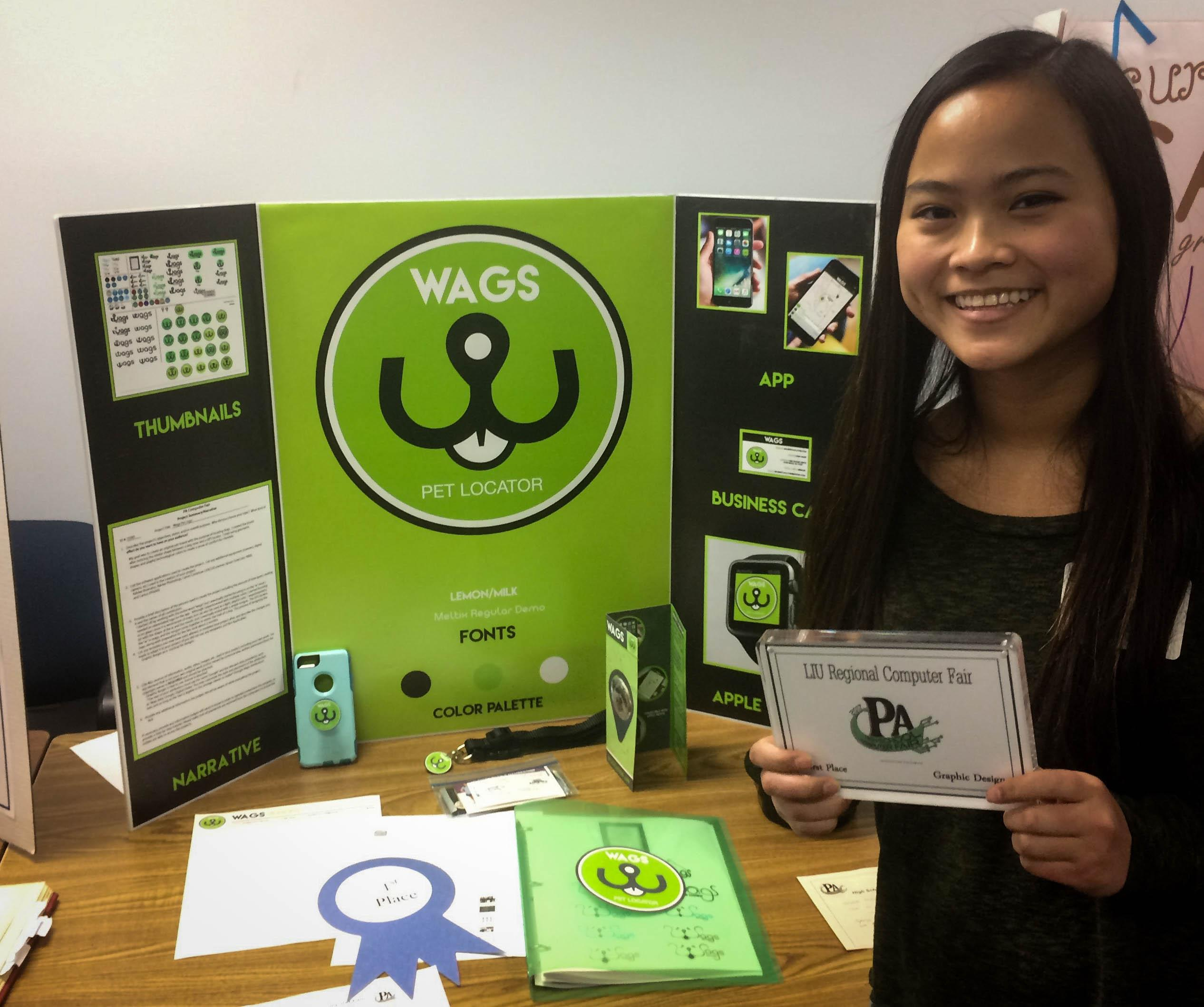 Senior Jessica McDonald took first place in the Graphic Design category.