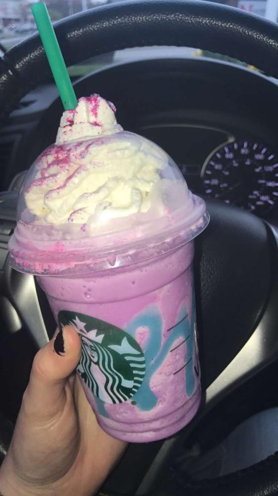Starbucks' Unicorn Frappuccino. Photo by Emily Christian
