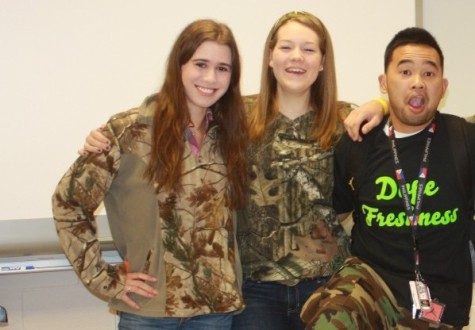 From right to left, seniors: Mackenzie Roberts, Casey Ives, Lee Viado.