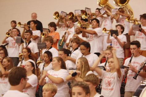 Warrior band plays their last set of the day.