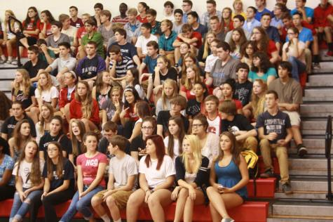 The sophomore class gets excited for the fesivities.