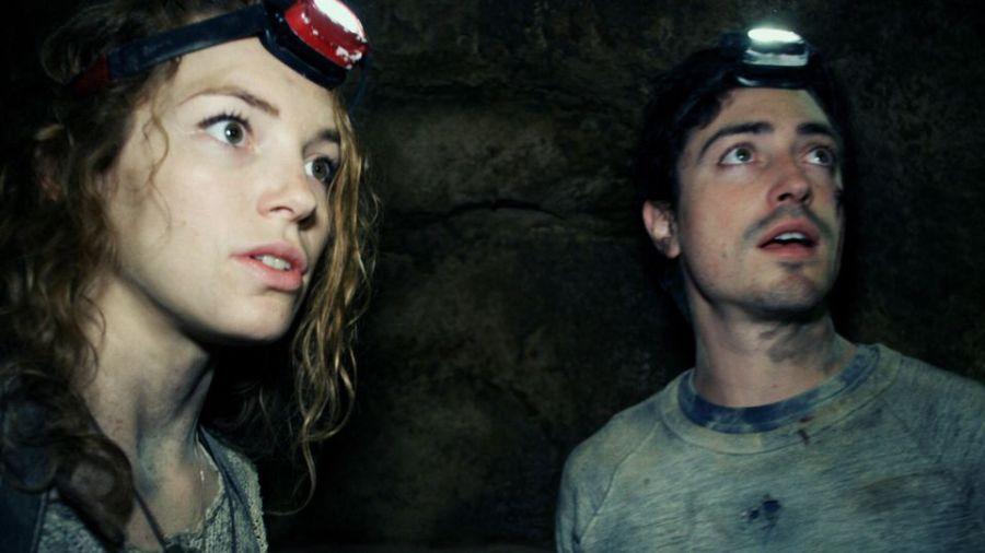 Perdita Weeks and Ben Feldman in As Above, So Below. Still courtesy Universal Pictures.