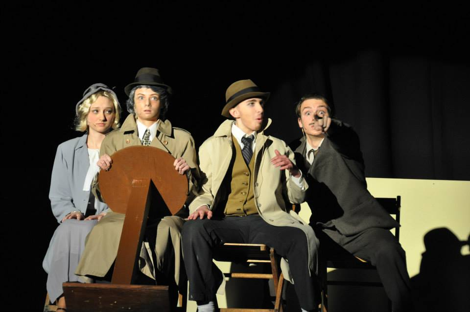Brooke Weber as Pamela Edwards with other cast members of The 39 Steps. Photo by Nancy Slattery