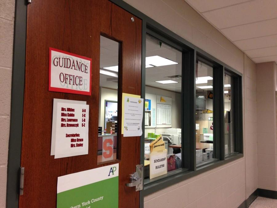 The guidance office is open for students to report an incident or talk about any issues going on.  Photo By: Grace Burns