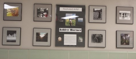 Some of Bortner's work is on display by the library.