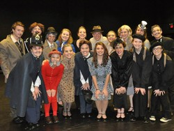 The cast of the 39 steps at the PA ITS Festival at Central York High School.