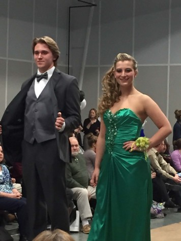 Junior Kevin Clapp and Stewart smile for the audience while posing.  Photo By: Donna Burns