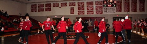 The wrestling team getting ready to compete. Photo courtesy: Mike Younkin